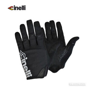 Cinelli X Giro DND Long Finger Cycling Gloves : BLACK/REFLECTIVE - One Pair