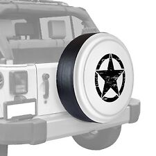Oscar Mike Star - Painted  Tire Cover - Jeep Wrangler - Bright White