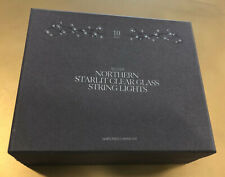 Restoration Hardware Northern Starlit Clear Glass String Lights - SILVER- 10'