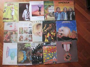 "STOCK LOTTO 15 X 12"" LP VINILI POP ROCK PROGRESSIVE GENESIS POOH AMERICA"