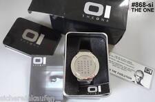 XXL-Uhr: IO LED Uhr IBIZA RIDE: #868 silber auch silbernes Armband