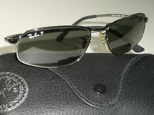 37edf0887e1 RAY-BAN RB3168 56 16MM STUNNING DOWNTOWN POLARIZED CRYSTAL LENS SUNGLASSES  MINT