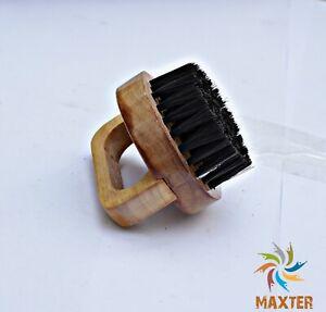 Mens Beard Brush,Moustache / Beard and Hair Brush Wood Round Handle