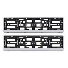 COPPIA D'ARGENTO number plate holder frame per qualsiasi AUDI AUDI S LINE auto a 2 3 4 5 6