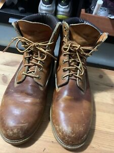 Vintage Timberland Boots Made in USA Men's Genuine Leather Desert Brown US 9.5