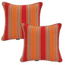 Orange Red Blue Cyan Stripe Scatter Throw Cushion Cover Insert 42cm Sofa Lounge Mango Orange