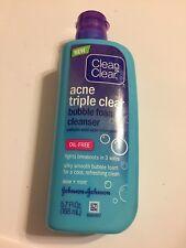 *Exp 11/2018* Clean & Clear Acne Triple Clear Cleanser 8 oz OIL-FREE aloe + mint