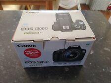 Canon EOS 1300d 18MP DSLR Camera Kit with 18-55mm Lens - Black