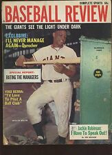 Summer 1962 Baseball Review Magazine With Willie Mays Cover VG