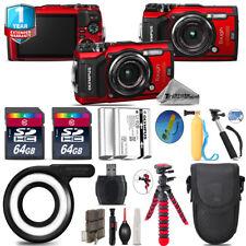 Olympus Stylus TOUGH TG-5 Camera + Extra Battery +  LG-1 LED Ring Light - 128GB