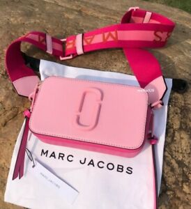 BNWT MARC JACOBS SNAPSHOT BAG Camera bag Pink Ceramic With Tags Dustbag