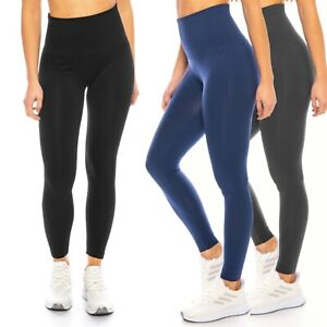 Damen Sexy Sport-Leggings Hoher Hoch-Bund High-Waist Blickdicht Gr. 38 40 42 44