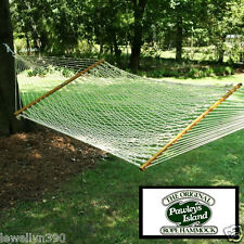 """Castaway Pc-14Cw 2 person Deluxe Cotton Rope Hammock 60"""" x 82"""" bed size New!"""