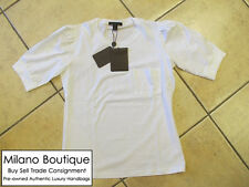 "Authentic NEW LOUIS VUITTON White Brooch T-Shirt Size ""M"" * Missing Brooch *"