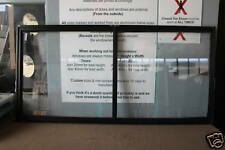 860h x 1810w BRAND NEW Aluminum Sliding window BLACK Clear Float