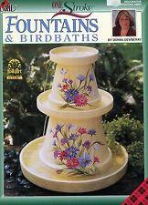 Fountains & Birdbaths One Stroke by Donna Dewberry Decorative Painting #9684 NEW