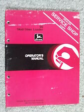 John Deere JD 90 Skid-Steer Loader Bobcat Operator's Owner's Instruction Manual