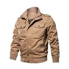 Men Jacket Coat Tactical Army Military Windbreak Zipper Outwear Work Tops Casual