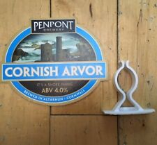 PENPONT BREWERY - CORNISH ARVOR ABV4.0% GENUINE PUMP CLIP HAND PULL PRODUCT SIGN