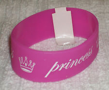 RUBBER SILICON WRISTBANDS  *** PRINCESS *** BRAND NEW - 25 cm - COLOUR PINK