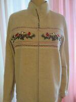 Croft & Barrow Womens Gold Fleece Jacket Size XL