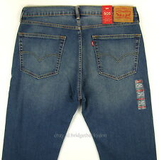 Levis 505 Jeans New Size 36 x 36 STONE BLUE W/FADE Mens Straight Zip Fly Levi's