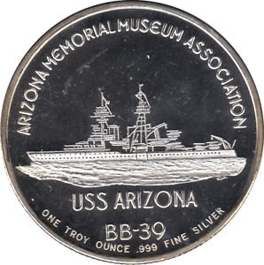 Anniversary Troy oz. Pearl Harbour USS Arizona .999 Fine Silver Proof Coin