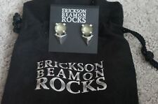 Antique Silver Green Acrylic Post Earrings New Erickson Beamon Rocks Gilded Lily
