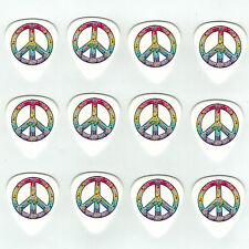 12 Pack PEACE RAINBOW MUSIC NOTES Medium Gauge 351 Guitar Picks Plectrum