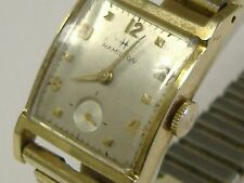 VINTAGE SOLID 14K GOLD  HAMILTON 770 MOVEMENT,22JEWELS, WATCH,RUNNING, WORKS