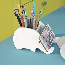Cute Desk Organizer Office Desktop Holder  Elephant Pen Storage Pencil Tray Gift