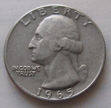 1/4 DI DOLLARO AMERICANO tipo Washington 1965 -  n. 1126