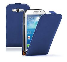 Ultra Slim BLUE Leather Case Cover Pouch for Samsung Galaxy Grand Neo GT-i9060