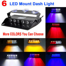 6 LED Car Truck Dash Emergency Traffic Strobe Warning Flashing Light Lamp Colors
