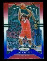 2019-20 Panini Prizm #107 James Harden Red White Blue Houston Rockets