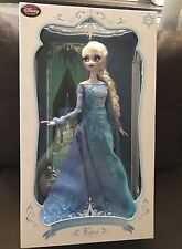 """Disney Store Frozen Snow Queen Elsa Limited Edition Doll 17"""" LE of 2500 - New"""