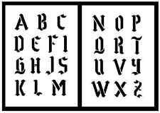 ABC Schablone große Buchstaben 5cm hoch gotisches Alphabet 2 Schriftschablonen