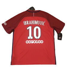 2016/17 PSG Away Jersey #10 Zlatan Ibrahimovic XL Nike PARIS RED NEW