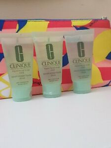NEW CLINIQUE Liquid Facial Soap Mild for Dry Combination skin 3 X 30ml in a bag