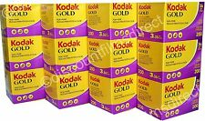 12 x  KODAK GOLD 200 35mm 36exp CHEAP COLOUR CAMERA FILM BY 1st CLASS POST