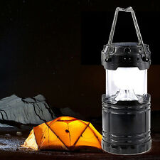 Rechargerable Lantern Solar 6 LED Light Outdoor Camping Lamp USB charger