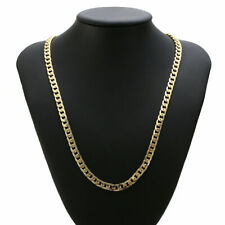 "Real 18k yellow gold filled mens necklace 23.6"" Chain"