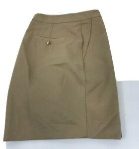 Golf Short Izod Women's size 12 6in inseam Tan with zip pocket Travel Hike Walk