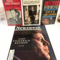 JFK John F Kennedy Vintage 4 Book Lot Young,Day In Life,James Michener,Newsweek