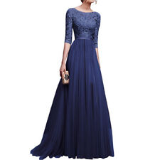 Long Sleeves Long Evening Dresses Prom Wedding Bridesmaid Party Formal Dress