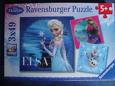 Disney Frozen Jigsaw Puzzle 3 x 49 Piece Jigsaws of Elsa Anna & Olaf Brand New