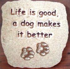 Dog plastic mold plaster concrete casting mould
