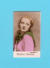 Marlene Dietrich Vintage 1935 Bridgewater Film Star Cigarette Card