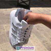 Adidas Stan Smith Borchiate Glitter Argento Scarpe ORIGINALI 100% ® ITALIA 2018