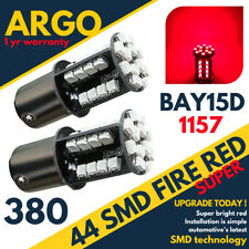 2 X RED TAIL/STOP/BRAKE LED SMD XENON CAR BULBS 380 1157 BAY15D 44 HID 12V